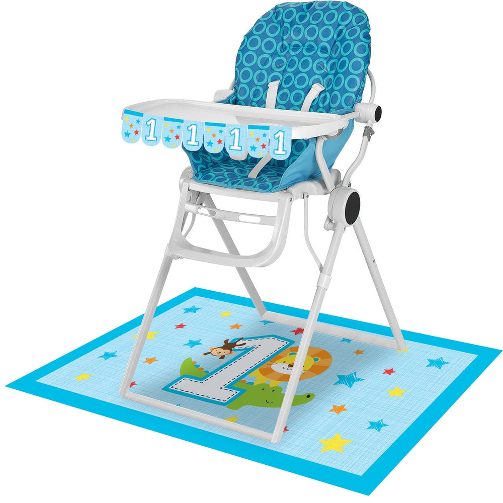 One Is Fun - Boy  High Chair Kit
