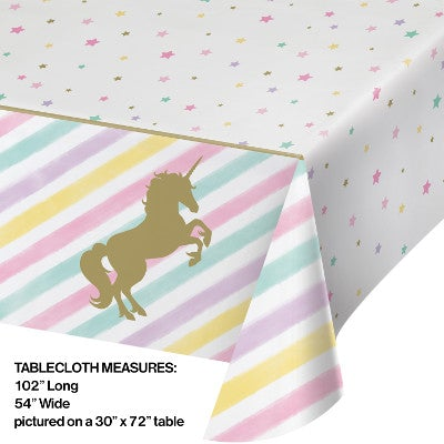 Unicorn Sparkle Plastic Tablecl