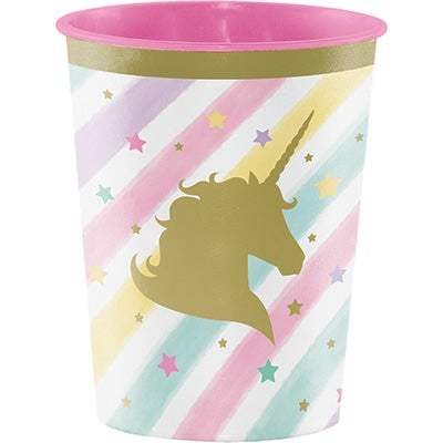 Unicorn Sparkle  Plastic Keepsake Cup 16 Oz.