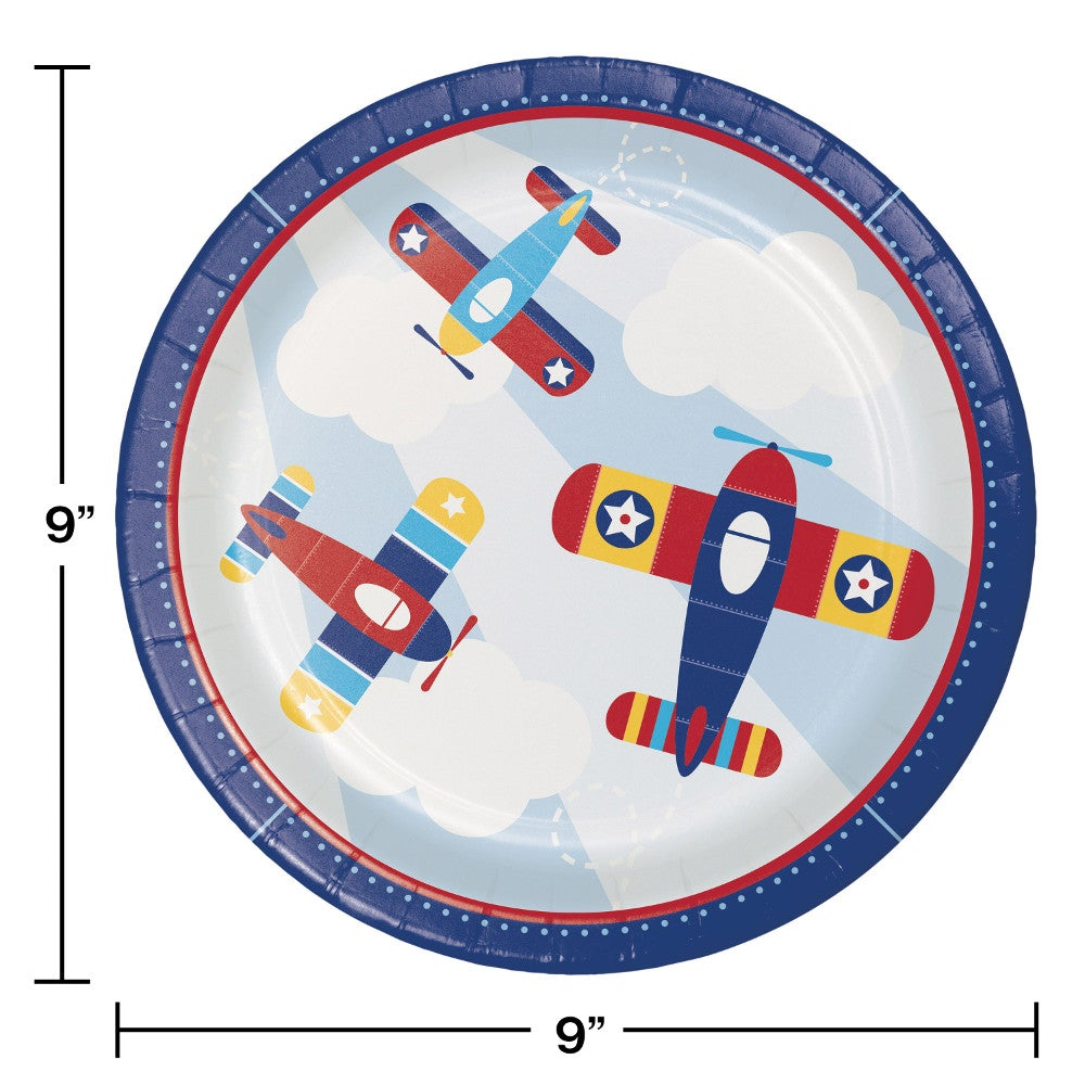 Lil Flyer Airplane  Dinner Plates