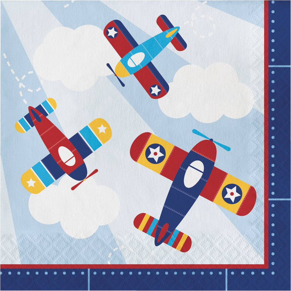 Lil Flyer Airplane Luncheon Napkins