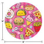 Food Love Dinner Paper Plates