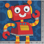 Party Robot Beverage Napkins 2-Ply (16 Count)