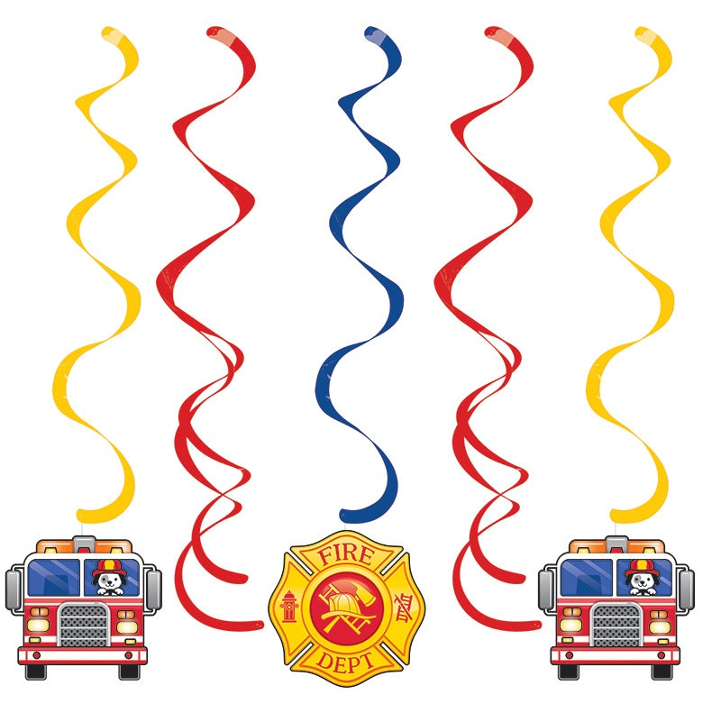 Flaming Fire Truck Danglers