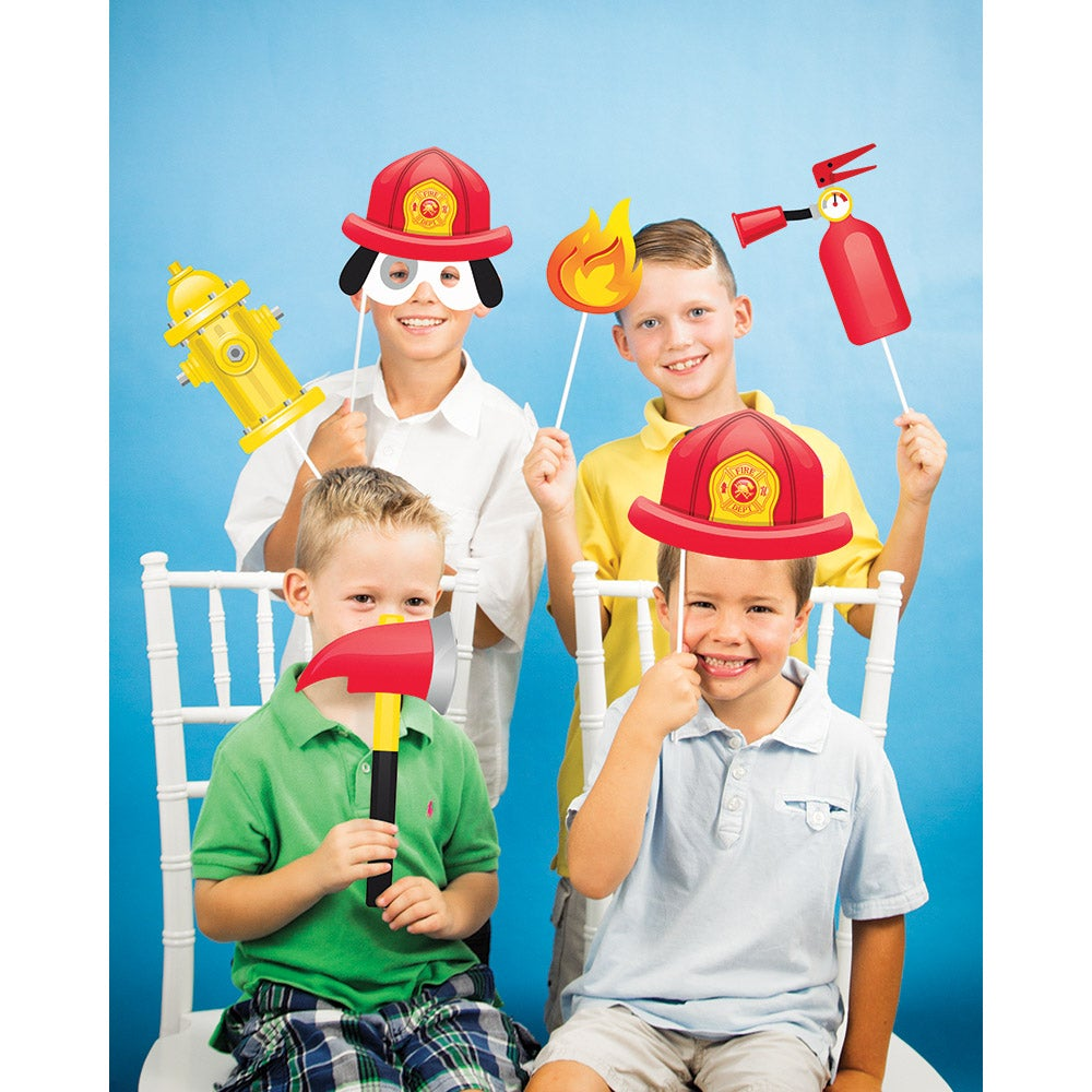 Flaming Fire Truck Photo Props