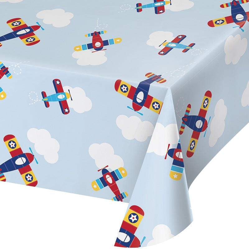 Lil Flyer Airplane Plastic Table-cover