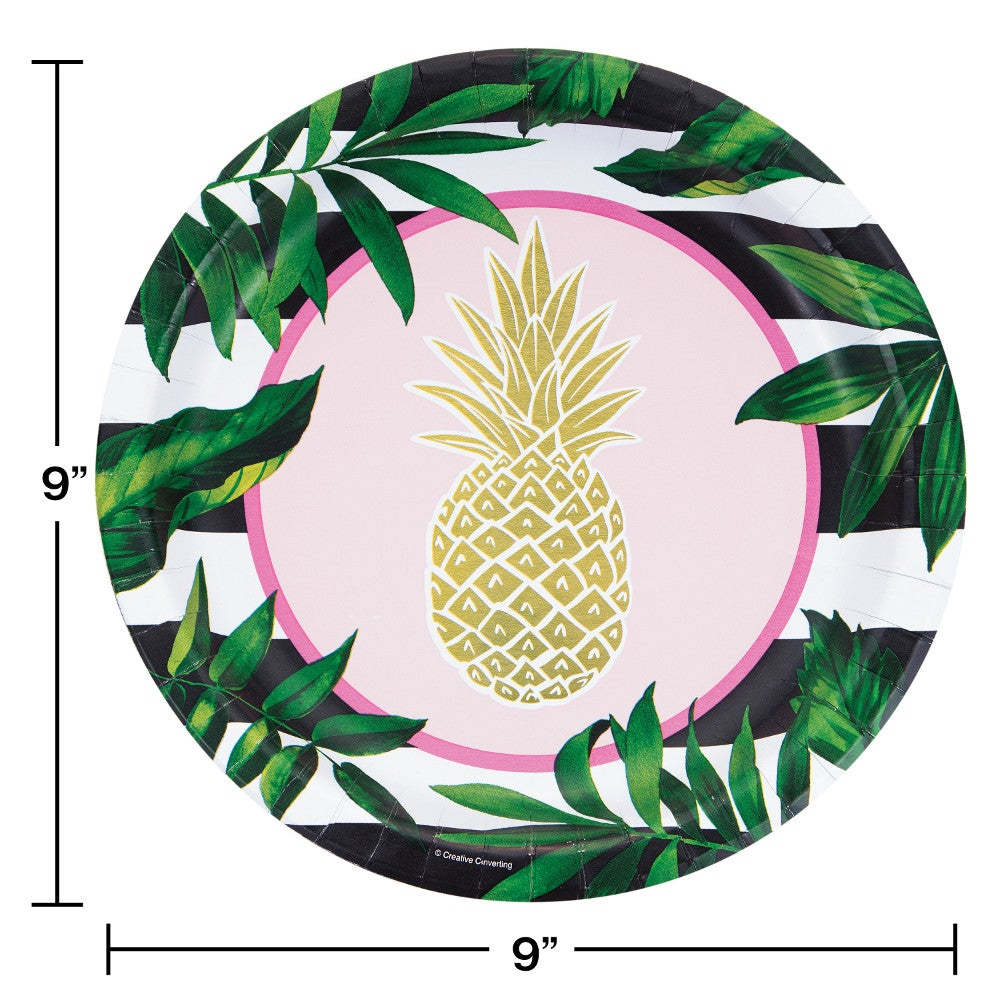 "Pineapple Wedding 10"" Dinner Plates"