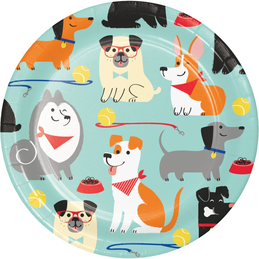 "Dog Party 7"" Lunch Plates"
