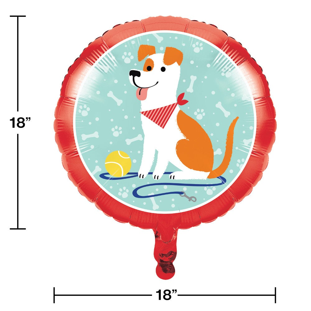 "Dog Party 18"" Foil Balloon"