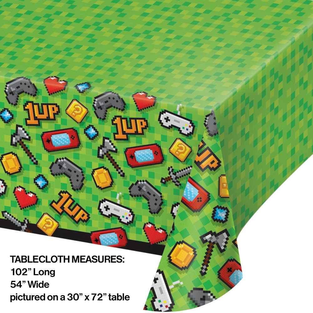 Video Game Party Plastic Tablecloth