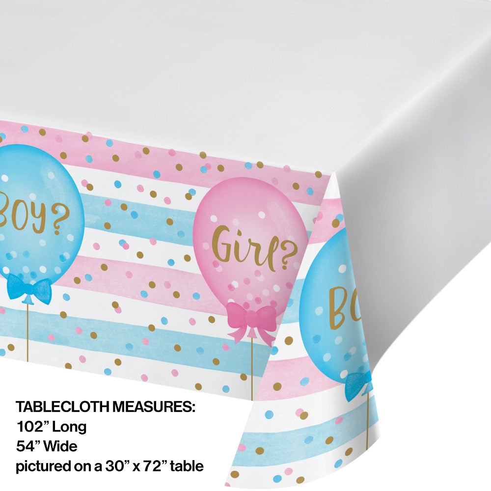 Gender Reveal Balloon Plastic Tablecover