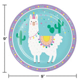"Llama Party 9"" Dinner Plates"