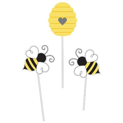 Bumblebee Baby Shower Centerpiece Sticks