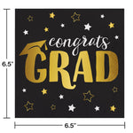 Grad Adventure Luncheon Napkin, Foil Stamp Creative Converting