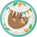 Sloth Party Luncheon Plate