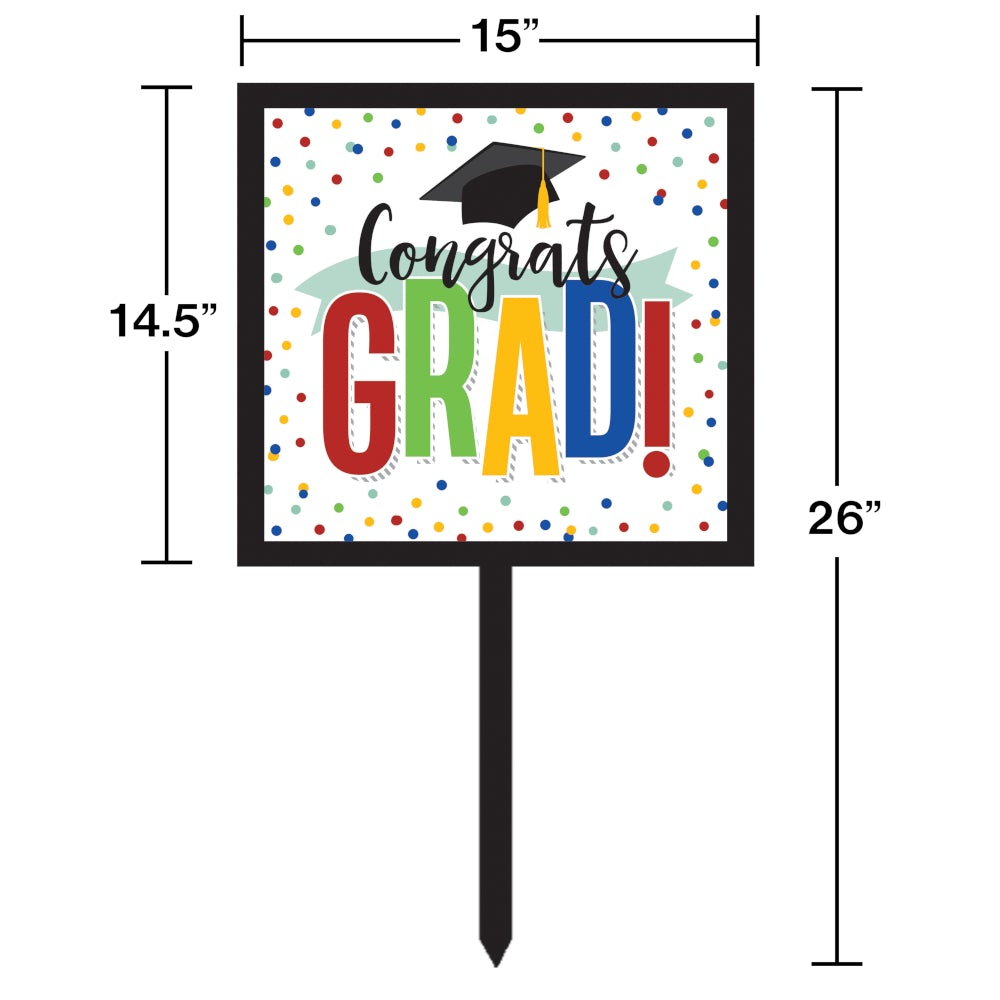 Colorful Graduation Yard Sign