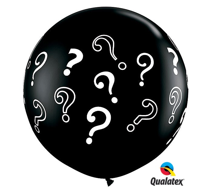 3 Ft Gender Reveal Black Balloon