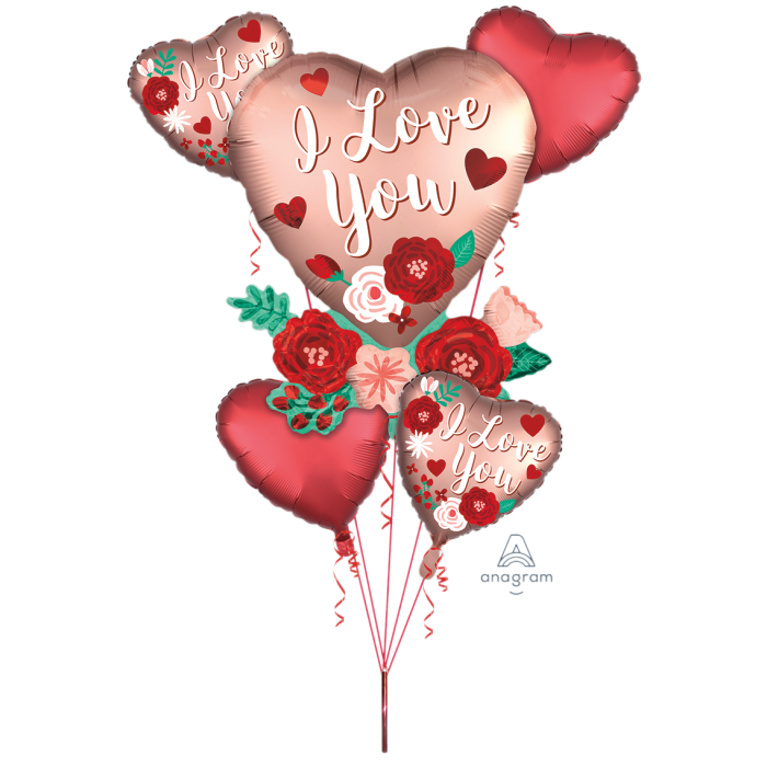 Satin Heart Flower Bouquet