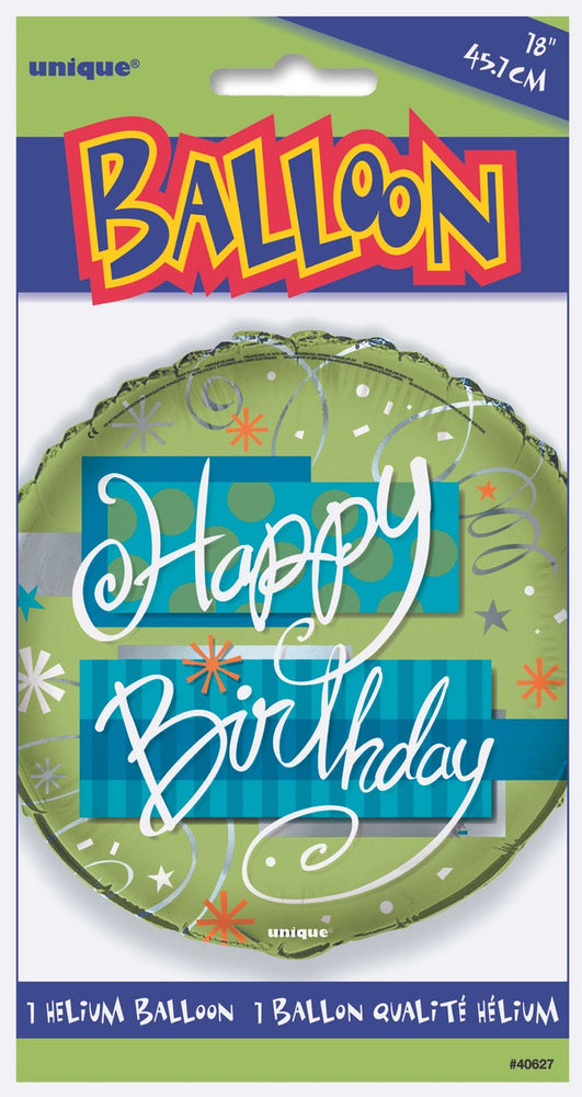 "18"" Bright Birthday Foil Balloon"