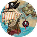Pirates Map Lunch Plates (8 co