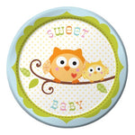 "Happy Tree 7"" Lunch Plates Blue"