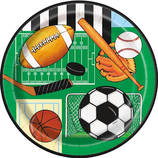 "Classic Sport 7"" Lunch Plates"
