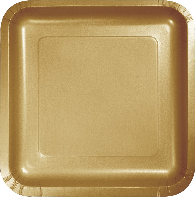 "7"" Gold Square Lunch Plates"