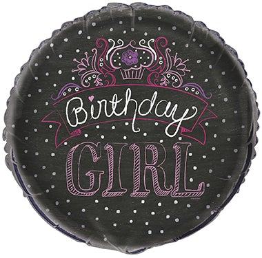 "18"" Birthday Sweet Girl Foil"