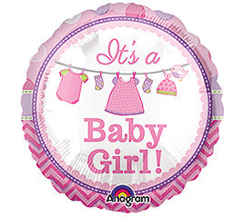 "9"" Its a Baby Girl Balloon"