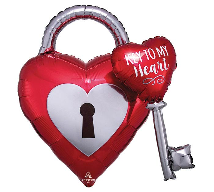 "32"" Key to my Hearts Balloon"