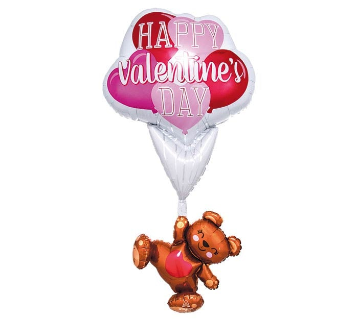 "56"" Happy Valentine Floating  Bear"