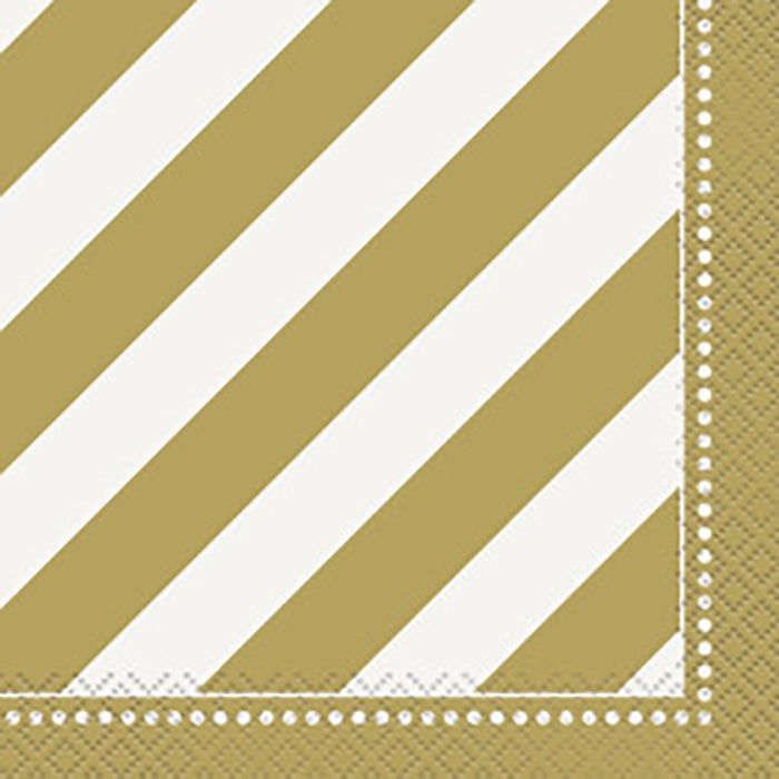 Golden Birthday Beverage Napkin