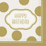 Golden Birthday Luncheon Napkin