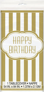 Golden Birthday Plastic Tablecover