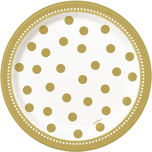 Golden Birthday Dessert Plates