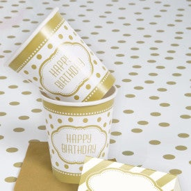 Golden Birthday 9 Oz Hot/Cold Cups