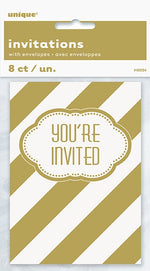 Golden Birthday Invitations