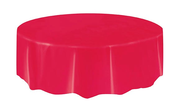 Classic Red Round Table