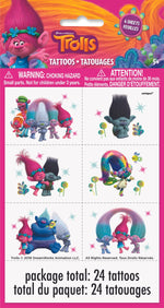 Trolls Tattoos Sheet
