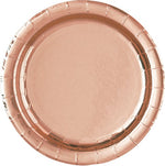 "Rose Gold 7"" Lunch Plates"