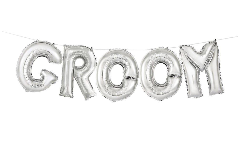 "Balloon Banner Kit ""Groom"""