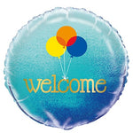 "18"" Blue Welcome Balloon"