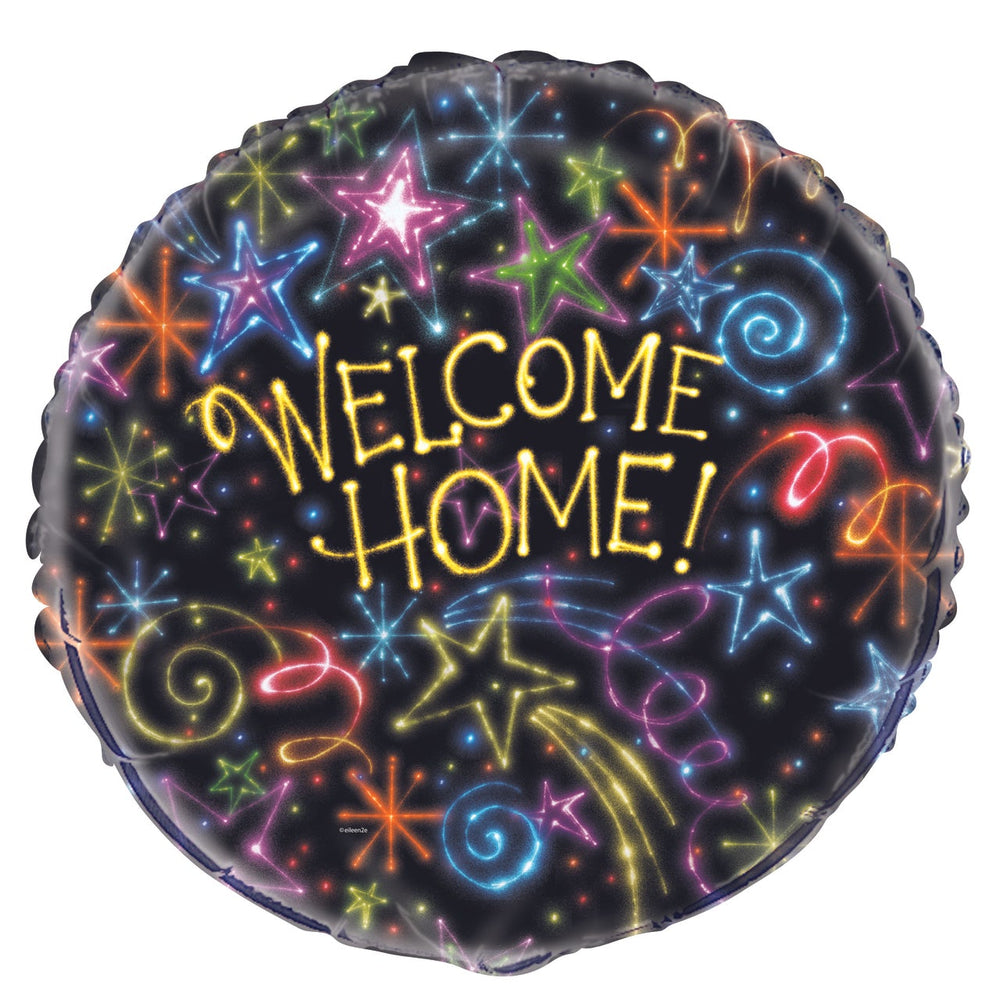 "18""  Neon Star Welcome Home Foil"