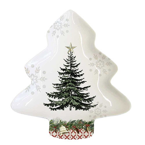Winter Lodge Tree Candy Plate