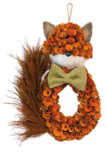 Foxy Fox Bow Tie Wreath