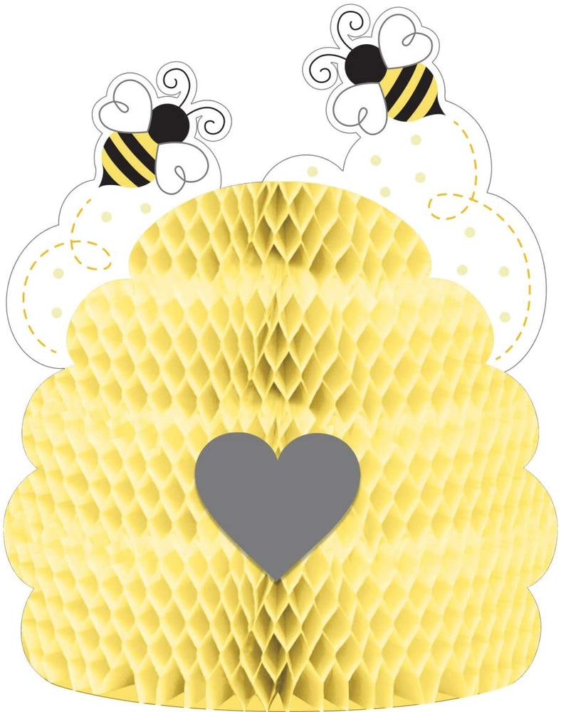 "Creative Converting Bumblebee Baby Centerpiece, 9"" x 11"", Multi-color"