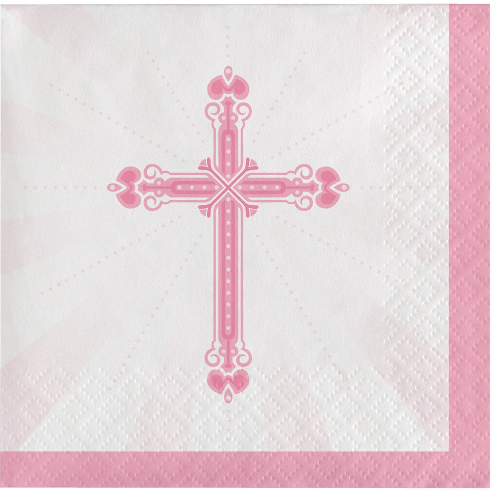 Blessing Lunch Napkins Pink