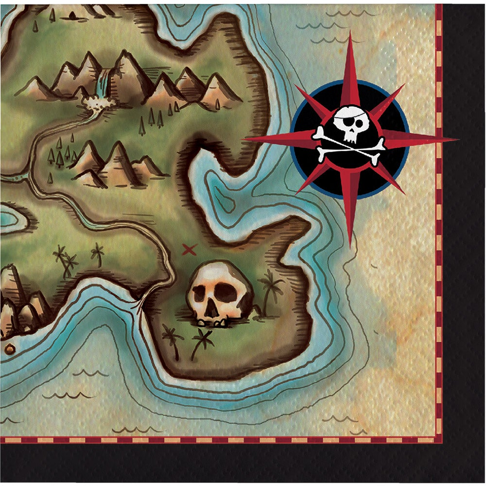 Pirates Map Luncheon Napkins (16 counts)