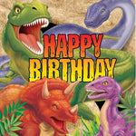 Dino Blast Dinner Napkins Happy Birthday