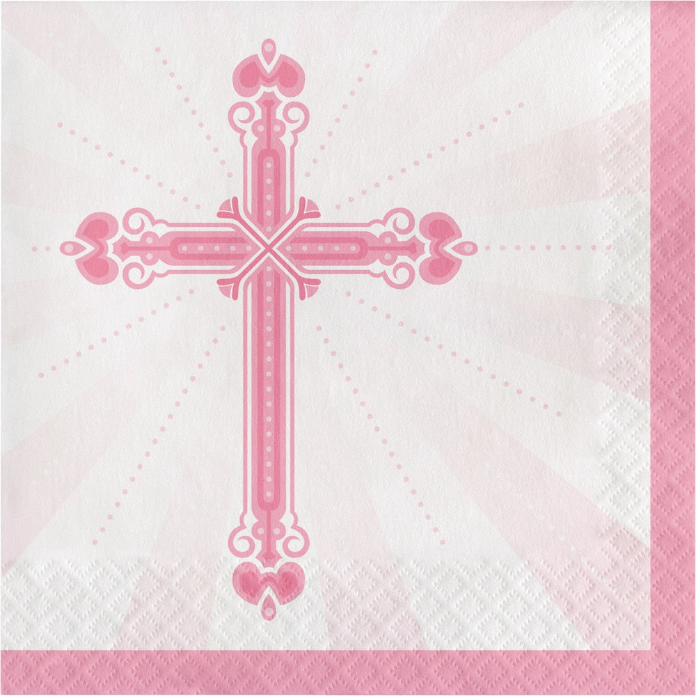 Blessing Dinner Napkins Pink